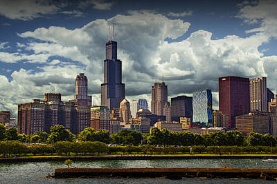 Photograph - Cityscape Of Downtown Chicago by Randall Nyhof