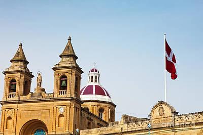 Maltese Photograph - Cityscape Of Marsaxlokk Malta by Frank Bach