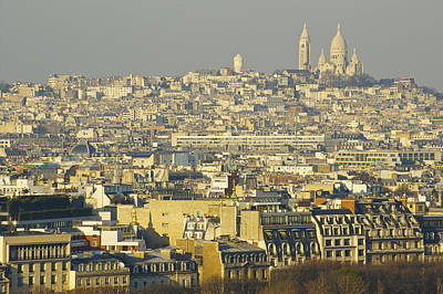 Sacre Coeur Photograph - Cityscape Of Paris Paris, France by Ingrid Rasmussen