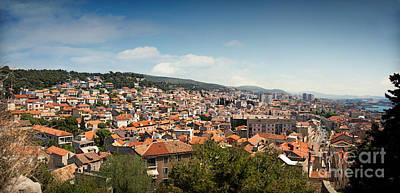 Cityscape Of Sibenik Croatia Art Print by Mythja  Photography