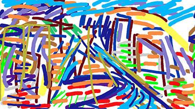 Cityscape Art Print by Paul Sutcliffe