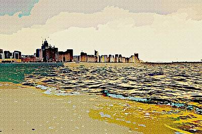 Cityscape Art Print by Peter Waters