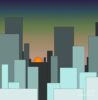 Digital Art - Cityscape by Ronda Douglas