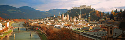 Cityscape Salzburg Austria Print by Panoramic Images