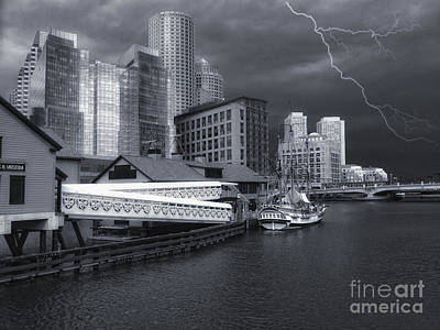 Photograph - Cityscape Storm by Gina Cormier