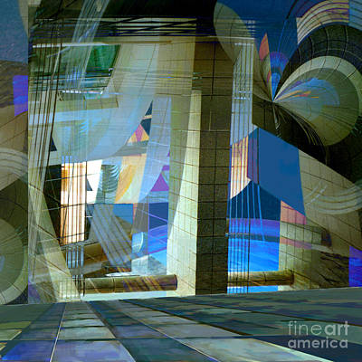 Digital Art - Cityscape by Ursula Freer