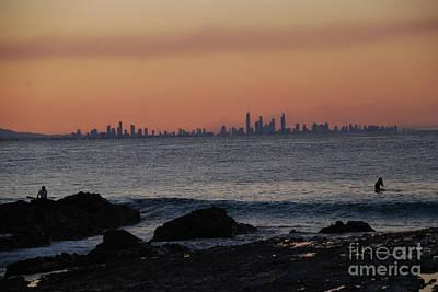 Photograph - Cityscape Watery Sunset by Ankya Klay