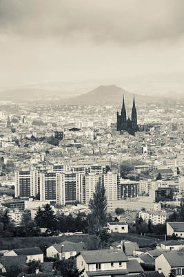 Clermont Photograph - Cityscape With Cathedrale by Panoramic Images