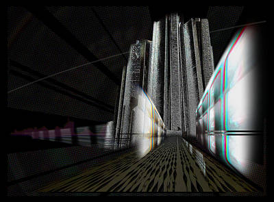 Digital Art - Cityscape1 by Barry Lamont