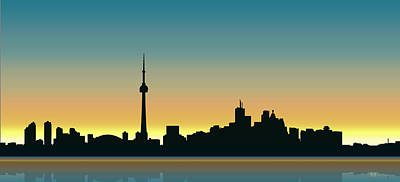 Digital Art - Cityscapes - Toronto Skyline - Dawn by Serge Averbukh