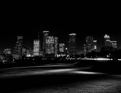 Photograph - Cityspaces Black And White by Joshua House