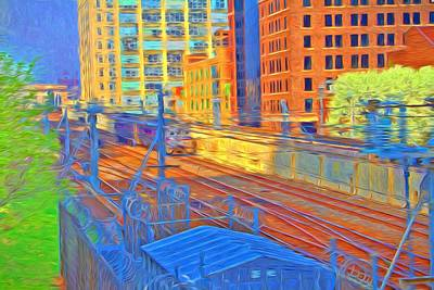 Photograph - Citytrainsystem by Alice Gipson