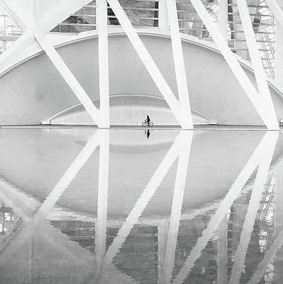 Bicycle Photograph - Ciudad Artes Y Las Ciencias by Francisco Sanchez Fotografias
