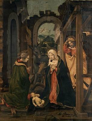 Civerchio Vincenzo, Nativity With St Art Print by Everett