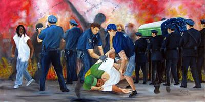 Civil Unrest-final Salute Art Print