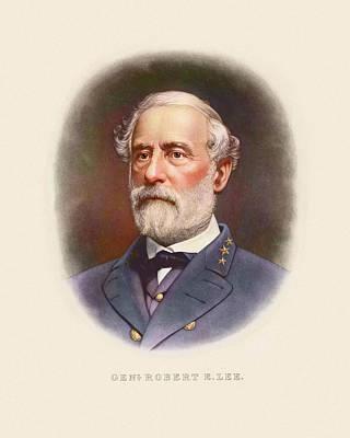 Robert E Lee Painting - Civil War Artwork Of Confederate by Stocktrek Images