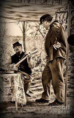 Civil War Banjo Player Art Print by Paul Ward