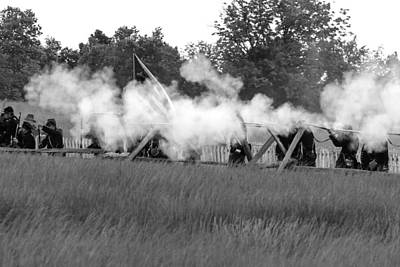 Photograph - Civil War Battle 3 by David Lester