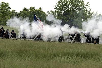 Photograph - Civil War Battle 4 by David Lester