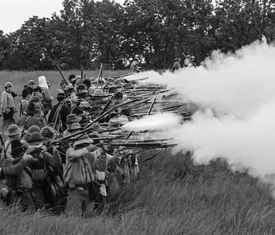 Photograph - Civil War Battle by David Lester