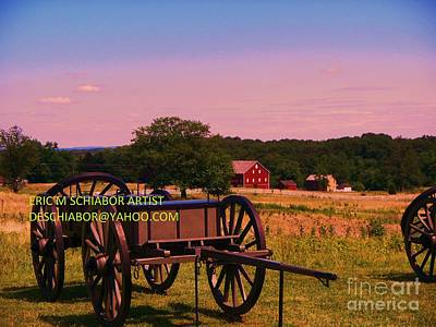 Civil War Caisson At Gettysburg Art Print
