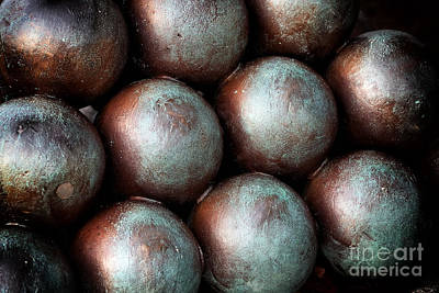 Civil War Cannon Balls Art Print by John Rizzuto