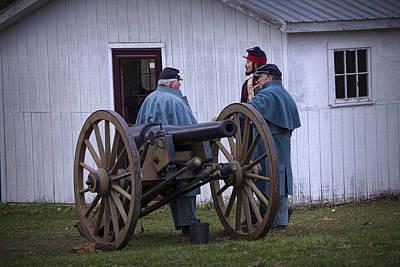 Photograph - Civil War Cannon Crew Reenactors by Randall Nyhof