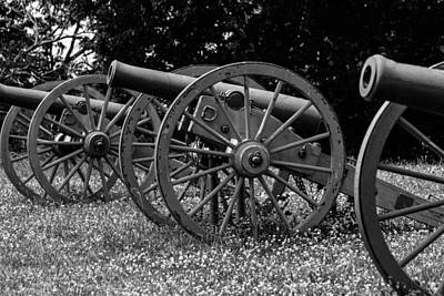 Photograph - Civil War Cannons by David Lester