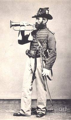 Photograph - Civil War Cavalry Bugler by Roberto Prusso
