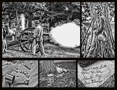 Art Print featuring the photograph Civil War Collage by Geraldine DeBoer