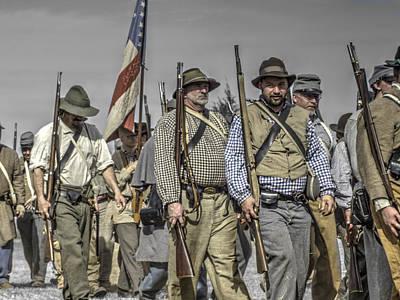 civil war confederate Troops v5 Art Print by John Straton