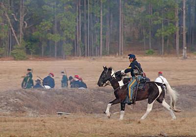 Photograph - Civil War Horse Soldier by John Black