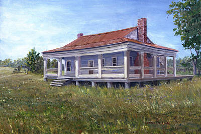 Painting - Civil War House Mansfield Louisiana by Lenora  De Lude