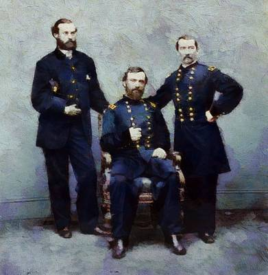 Dignified Painting - Civil War In Color Union Soldiers by Dan Sproul