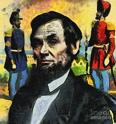 Civil War Lincoln  Print by Nishanth Gopinathan