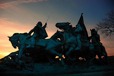 Photograph - Civil War Memorial In Washington Dc. by Songquan Deng