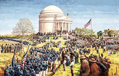 Photograph - Civil War Memorial by Maria Coulson