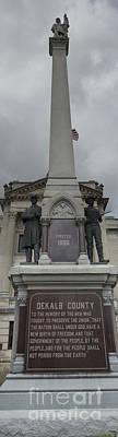 Photograph - Civil War Monument by David Bearden