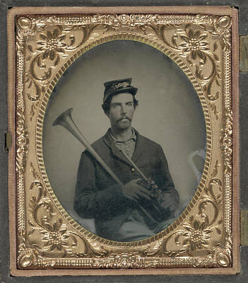 Civil War Musician, C1863 Art Print by Granger