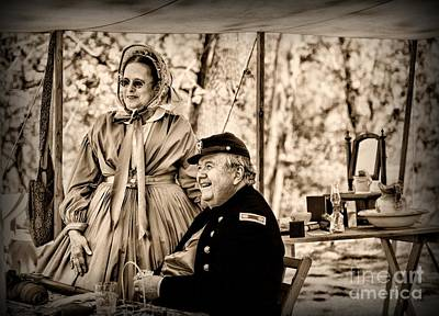 Civil War Officer And Wife Art Print by Paul Ward