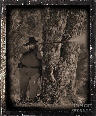 Civil War Re Enactment 4 Art Print