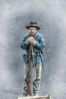 Army Of The Potomac Digital Art - Civil War Soldier Co. F 78th Pvi by Randy Steele