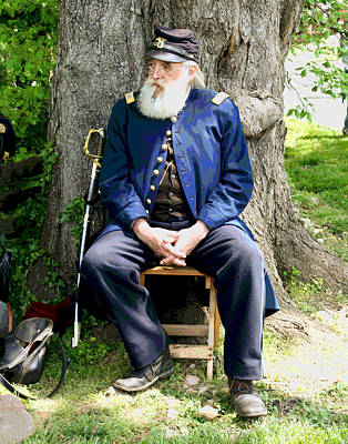 Photograph - Civil War Soldier by Larry Oskin