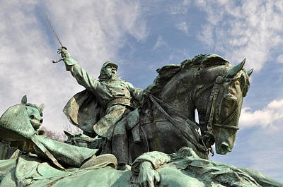 Patriotic Bronze Photograph - Civil War Soldier Statue by Brandon Bourdages