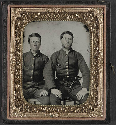 Civil War Soldiers, C1861 Art Print