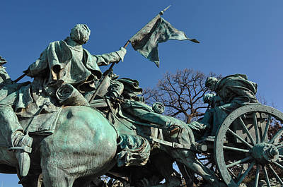 Patriotic Bronze Photograph - Civil War Statue In Washington Dc by Brandon Bourdages