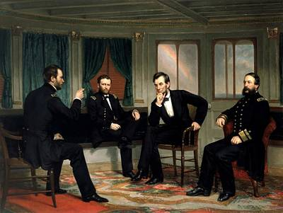 Abraham Lincoln Painting - Civil War Union Leaders -- The Peacemakers by War Is Hell Store