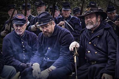 Photograph - Civil War Union Troop Reenactors by Randall Nyhof