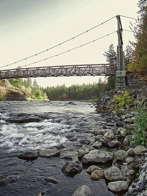 Pedestrian Bridge Photograph - Civilian Conservation Corps Bridge - Spokane Washington by Daniel Hagerman