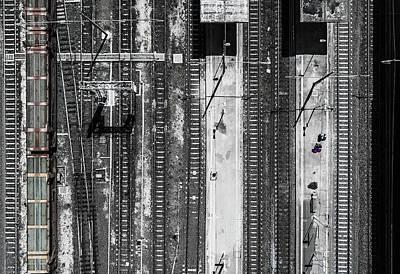 Railroads Photograph - Civitavecchia Train Station by Zhou Chengzhou